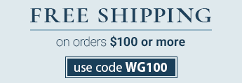 Free Shipping on $100 with code WG100