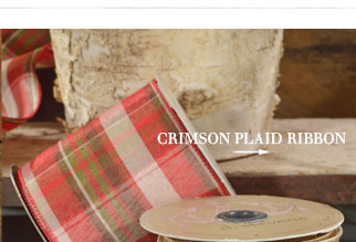 Crimson Plaid Ribbon