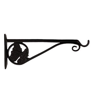 Restorers Iron Butterfly Plant Hanger-Pair-Black Powder Coat
