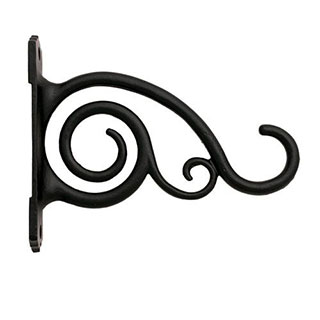 Restorers Iron Scroll Plant Hanger-Pair-Black Powder Coat