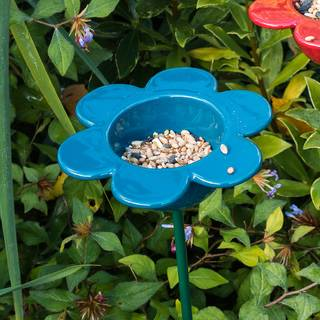 Ceramic Petal Feeder Blue