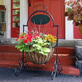 Welcome Ornamental Planter with Coco Liner