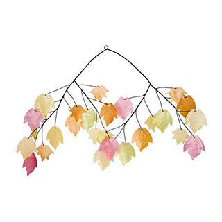 Autumn Leaves Capiz Wind Chimes