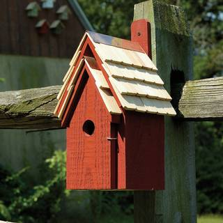 Redwood Bluebird Cottage Bird House