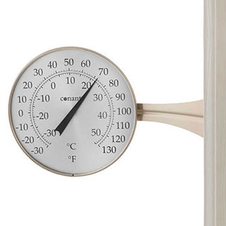 Conant Decor Large Dial Thermometer Satin Nickel