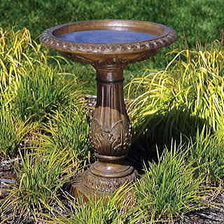 Antique Bronze Birdbath
