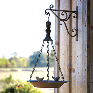 Rustic Hanging Bird Feeder
