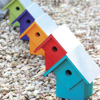 Summer Home Bird House - Set of 5