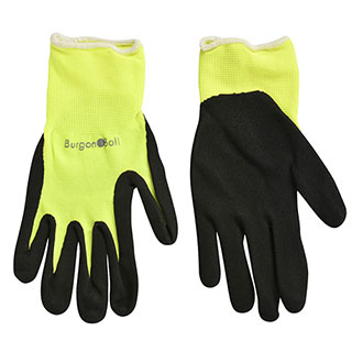 Fluorescent Garden Glove Yellow