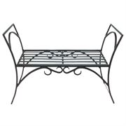 Wrought Iron Arbor Bench