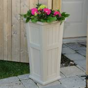 Cape Cod Tall Patio Planter Clay