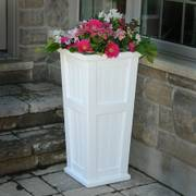 Cape Cod Tall Patio Planter White