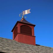 Polished Copper American Flag Weathervane