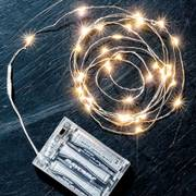 Silver Indoor Starry Lights, Battery-Powered