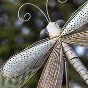 Iron Dragonfly Garden Pick