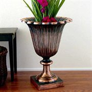 Antique Verdigris Tulip Urn