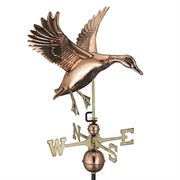 Blue Verde Copper Landing Duck Weathervane