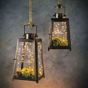 Craftsman Glass Hanging Lanterns