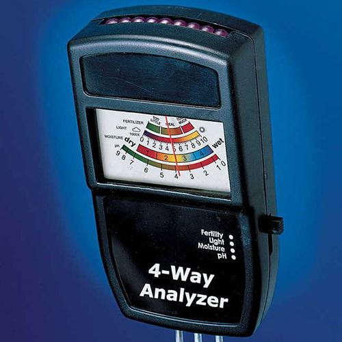 Electronic 4-Way Soil Analyzer