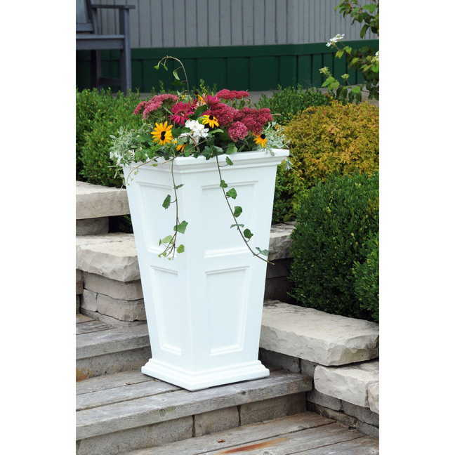 Fairfield Tall Patio Planter White