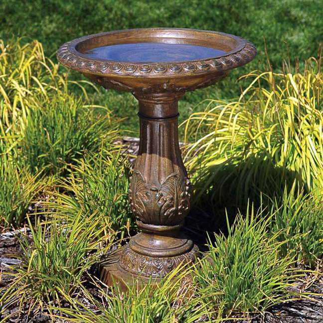 Free Shipping. Antique Bronze Birdbath